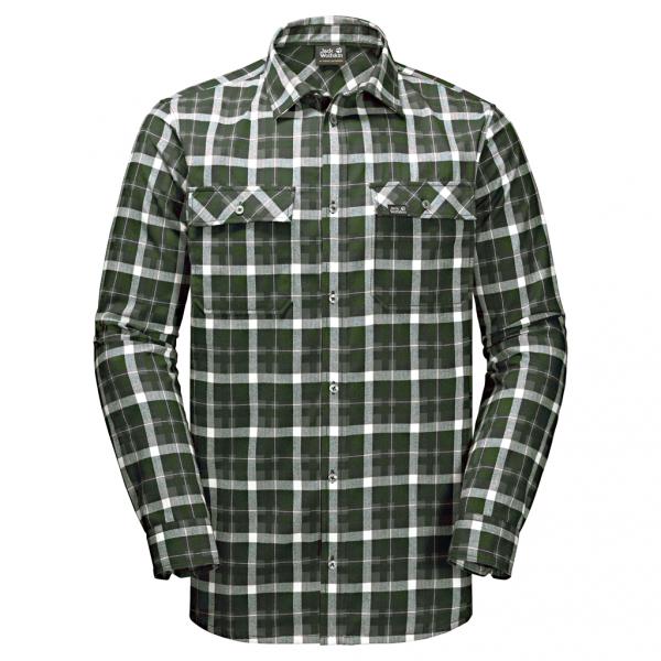 ebony checks - Jack Wolfskin Bow Valley Shirt Men
