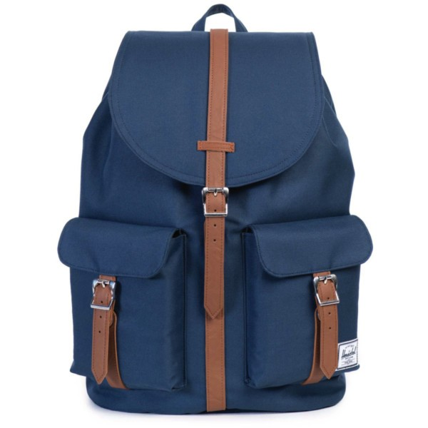 navy/tan synthetic leather - Herschel Dawson Backpack