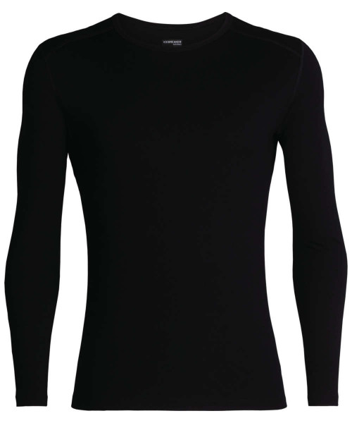 black - Icebreaker Mens Tech LS Crewe 260