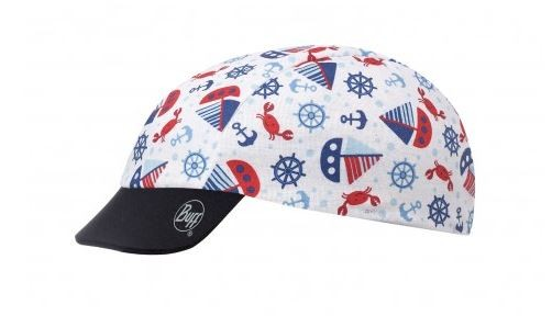 ocean blue - white - Buff Cap Buff Baby