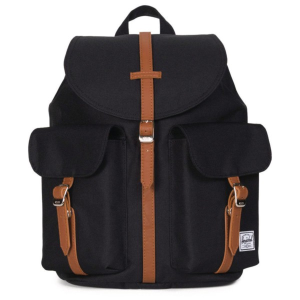 black/tan synthetic leather - Herschel Dawson X-Small Backpack