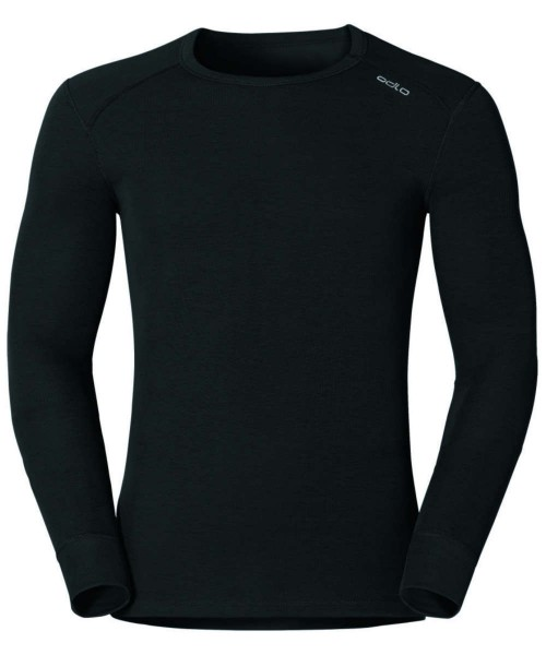 black - Odlo Men Shirt L/s Crew Neck Warm