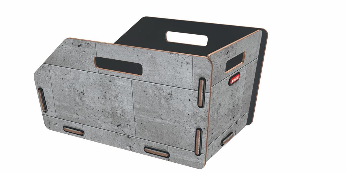 KLICKfix Radkiste 1 für Gepäckträger, Fix beton