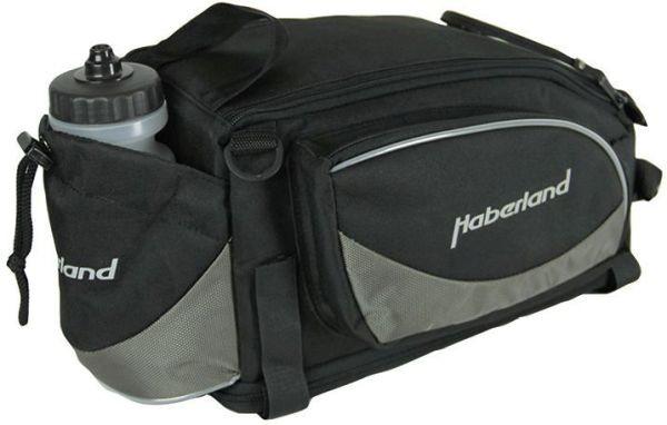 Haberland Gepäckträgeraufsatztasche Flexibag L GT9570 inkl. Klettbandbefestigung schwarz/grau