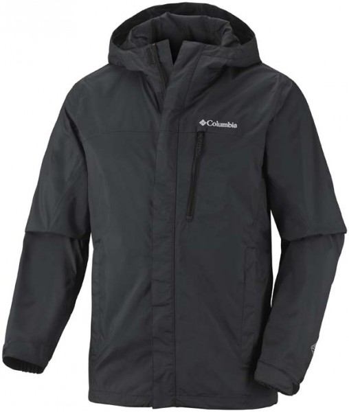 black - Columbia Pouring Adventure Jacket Men