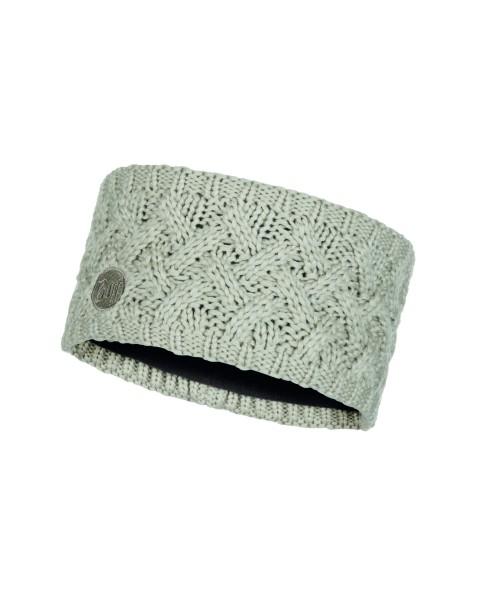cream - Buff Knitted und Polar Fleece Headband Savva