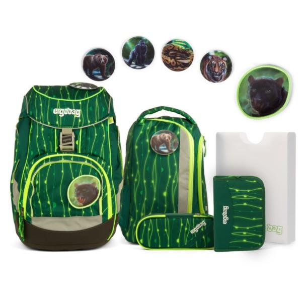 RambazamBär (fluo grüne Lianen) - ergobag Pack-Set (6-tlg.) Lumi Edition