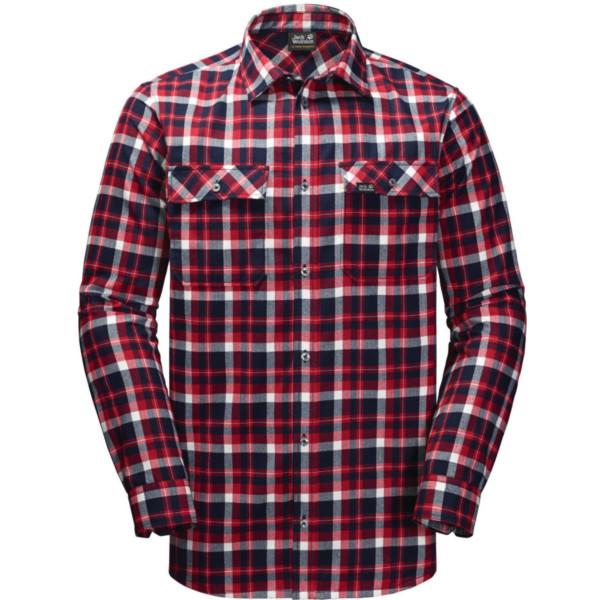 Jack Wolfskin Bow Valley Shirt Men red blue checks XXL