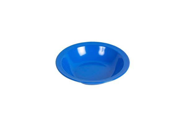 blau - Waca Melamin Teller tief, Durchmesser 20,5 cm