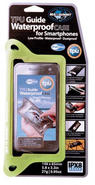 lime - Sea to Summit TPU Guide Waterproof Case for Smart Phones