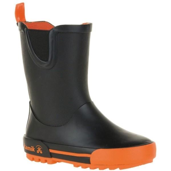 black/orange - Kamik Rainplay