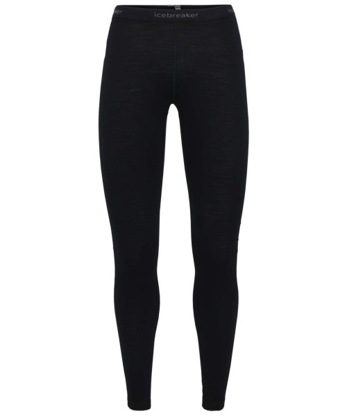 black - Icebreaker Womens Oasis Leggings 200