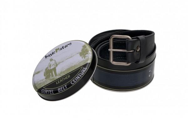 schwarz - Basic Nature Gürtel Classic in Geschenkverpackung
