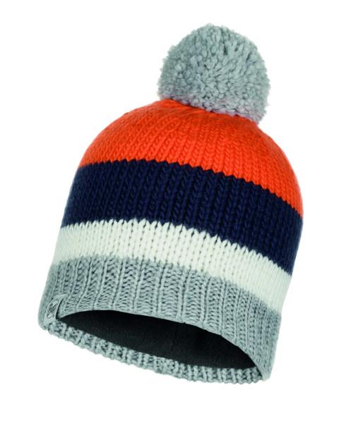 multi - Buff Knitted und Polar Fleece Hat Knut Junior