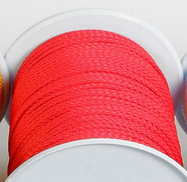 rot - Relags Seile auf 30 Meterrollen, 3 mm
