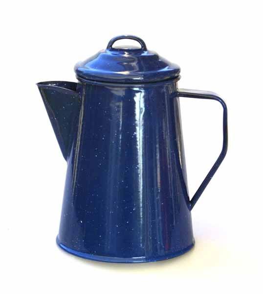 blau - Relags Emaille Kaffeekanne 1 Liter, 6 Tassen