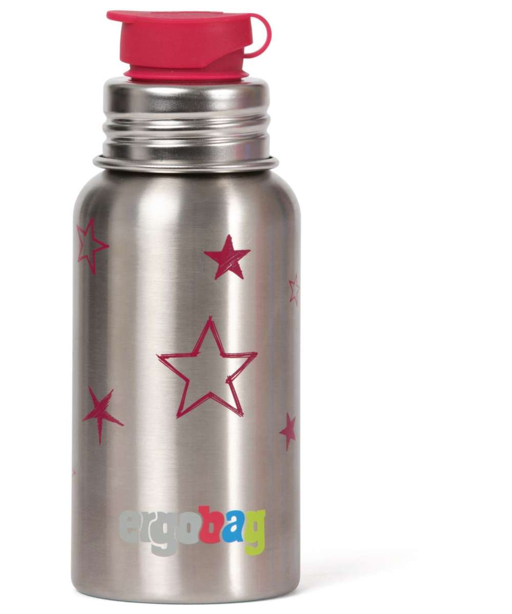 ergobag PURA Edelstahl-Trinkflasche 0,5 L sterne (rot)