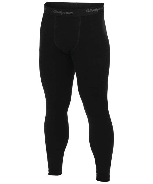 schwarz - Woolpower Lange Unterhose Long Johns Lite Men