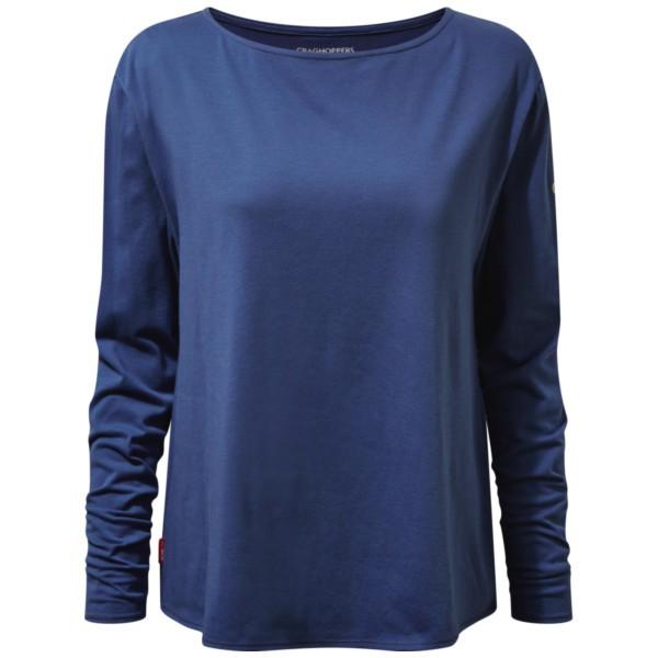 soft denim stripe - Craghoppers NosiLife W Erin langarm Shirt