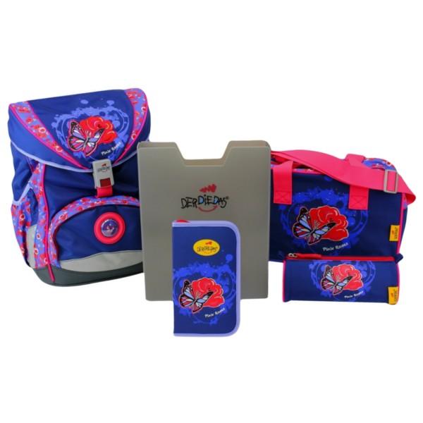 DerDieDas Ergoflex Exklusiv LED 5-teiliges Set pink roses