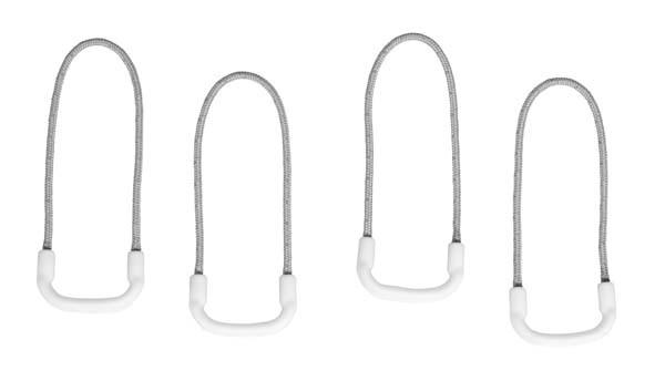 white - Eagle Creek Reflective Finger Loop Zipper Pull Set