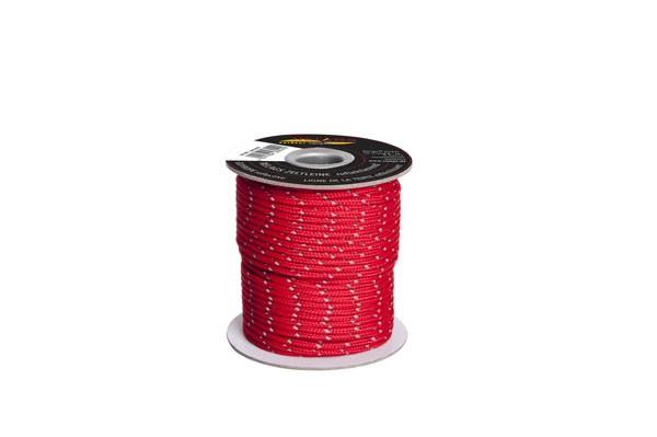 Relags Seile auf 30 Meterrollen - Zeltleine - 3 mm, reflektierend-rot