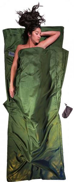 dark olive green - Cocoon Travel Sheet Seide