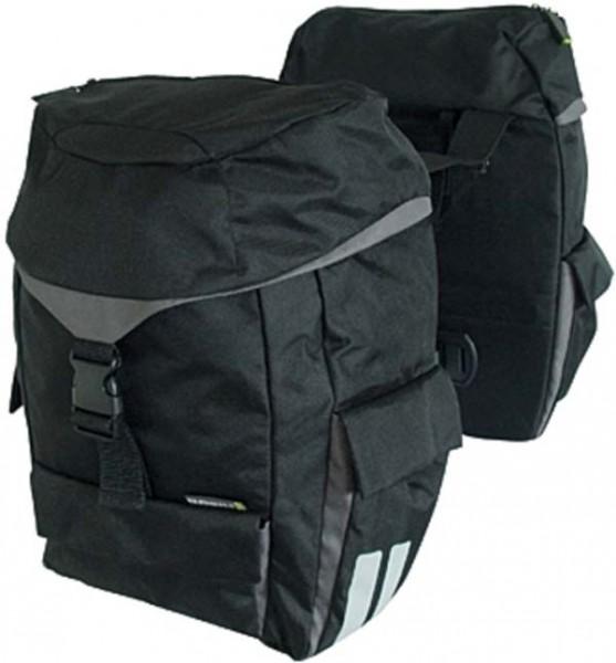 - Basil Sports Doppeltasche schwarz mit Raincover
